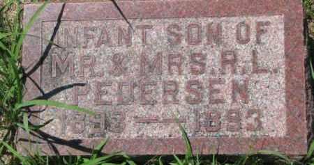 PEDERSEN, INFANT OF R.L. - Dakota County, Nebraska | INFANT OF R.L. PEDERSEN - Nebraska Gravestone Photos