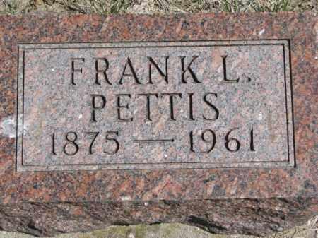 PETTIS, FRANK L. - Dakota County, Nebraska | FRANK L. PETTIS - Nebraska Gravestone Photos