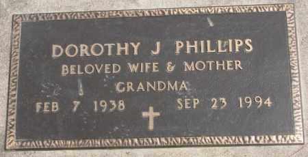 PHILLIPS, DOROTHY J. - Dakota County, Nebraska   DOROTHY J. PHILLIPS - Nebraska Gravestone Photos