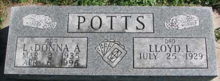 POTTS, LADONNA A. - Dakota County, Nebraska | LADONNA A. POTTS - Nebraska Gravestone Photos