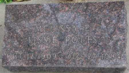 POTTS, MELISSA E. - Dakota County, Nebraska | MELISSA E. POTTS - Nebraska Gravestone Photos