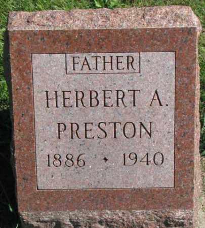 PRESTON, HERBERT A. - Dakota County, Nebraska | HERBERT A. PRESTON - Nebraska Gravestone Photos