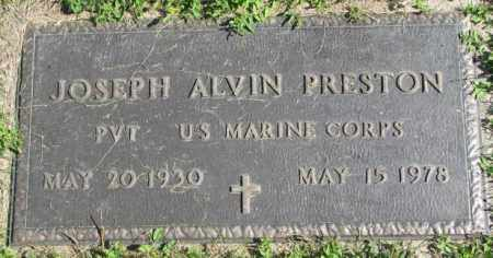 PRESTON, JOSEPH ALVIN (MILITARY MARKER) - Dakota County, Nebraska | JOSEPH ALVIN (MILITARY MARKER) PRESTON - Nebraska Gravestone Photos