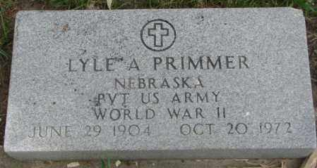PRIMMER, LYLE A. - Dakota County, Nebraska   LYLE A. PRIMMER - Nebraska Gravestone Photos