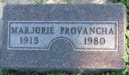 PROVANCHA, MARJORIE - Dakota County, Nebraska | MARJORIE PROVANCHA - Nebraska Gravestone Photos