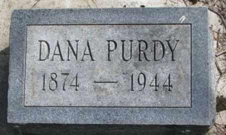 PURDY, DANA - Dakota County, Nebraska | DANA PURDY - Nebraska Gravestone Photos