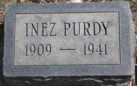 PURDY, INEZ - Dakota County, Nebraska | INEZ PURDY - Nebraska Gravestone Photos