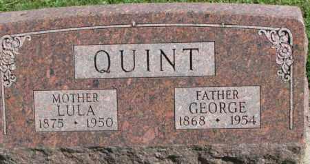 QUINT, GEORGE - Dakota County, Nebraska | GEORGE QUINT - Nebraska Gravestone Photos