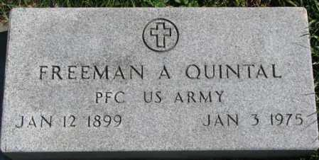 QUINTAL, FREEMAN A. - Dakota County, Nebraska | FREEMAN A. QUINTAL - Nebraska Gravestone Photos