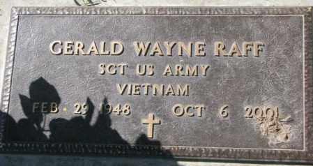 RAFF, GERALD WAYNE - Dakota County, Nebraska   GERALD WAYNE RAFF - Nebraska Gravestone Photos