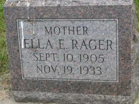 RAGER, ELLA E. - Dakota County, Nebraska | ELLA E. RAGER - Nebraska Gravestone Photos