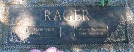 RAGER, FLORENCE - Dakota County, Nebraska | FLORENCE RAGER - Nebraska Gravestone Photos