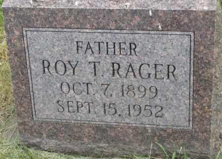 RAGER, ROY T. - Dakota County, Nebraska | ROY T. RAGER - Nebraska Gravestone Photos