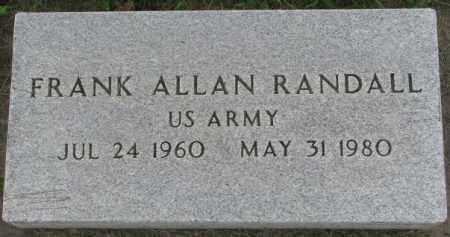 RANDALL, FRANK ALLAN - Dakota County, Nebraska | FRANK ALLAN RANDALL - Nebraska Gravestone Photos
