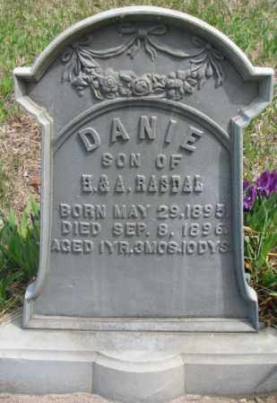 RASDAL, DANIE - Dakota County, Nebraska | DANIE RASDAL - Nebraska Gravestone Photos