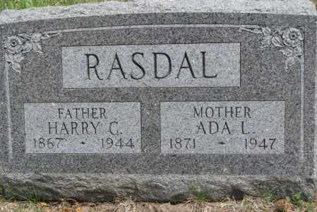 RASDAL, HARRY G. - Dakota County, Nebraska   HARRY G. RASDAL - Nebraska Gravestone Photos