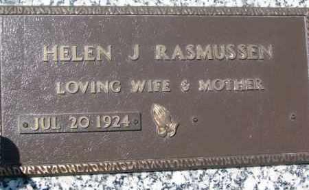 RASMUSSEN, HELEN J. - Dakota County, Nebraska | HELEN J. RASMUSSEN - Nebraska Gravestone Photos