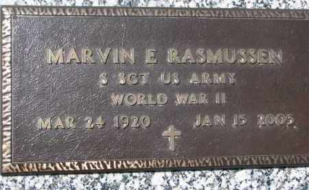 RASMUSSEN, MARVIN E. (WW II MARKER) - Dakota County, Nebraska | MARVIN E. (WW II MARKER) RASMUSSEN - Nebraska Gravestone Photos
