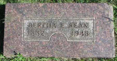 REAM, BERTHA E. - Dakota County, Nebraska | BERTHA E. REAM - Nebraska Gravestone Photos