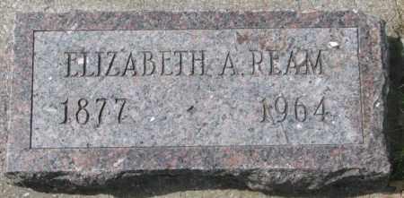 REAM, ELIZABETH A. - Dakota County, Nebraska   ELIZABETH A. REAM - Nebraska Gravestone Photos