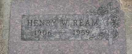 REAM, HENRY W. - Dakota County, Nebraska | HENRY W. REAM - Nebraska Gravestone Photos