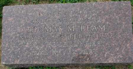 REAM, THOMAS M. - Dakota County, Nebraska | THOMAS M. REAM - Nebraska Gravestone Photos