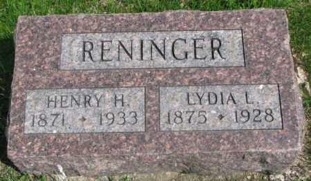 RENINGER, LYDIA L. - Dakota County, Nebraska | LYDIA L. RENINGER - Nebraska Gravestone Photos