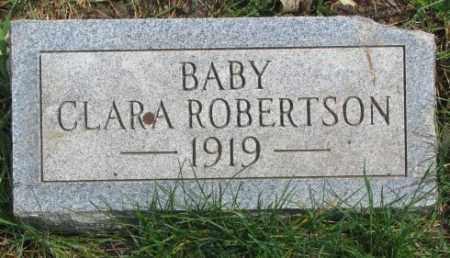 ROBERTSON, CLARA - Dakota County, Nebraska   CLARA ROBERTSON - Nebraska Gravestone Photos