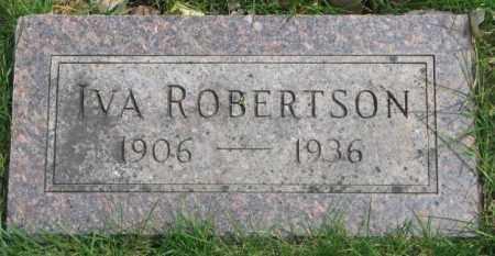 ROBERTSON, IVA - Dakota County, Nebraska | IVA ROBERTSON - Nebraska Gravestone Photos