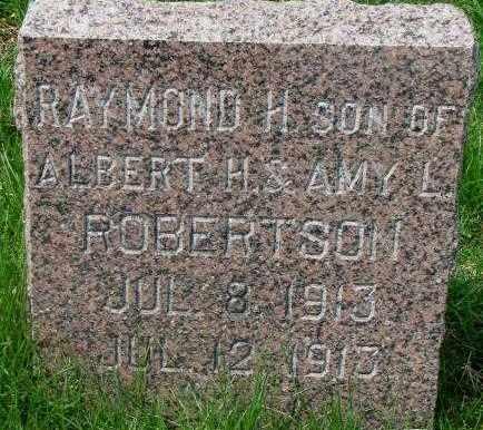 ROBERTSON, RAYMOND H. - Dakota County, Nebraska   RAYMOND H. ROBERTSON - Nebraska Gravestone Photos