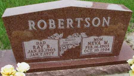 ROBERTSON, NEVA M. - Dakota County, Nebraska   NEVA M. ROBERTSON - Nebraska Gravestone Photos