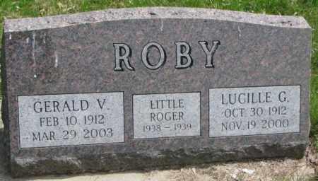 ROBY, GERALD V. - Dakota County, Nebraska   GERALD V. ROBY - Nebraska Gravestone Photos