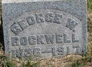 ROCKWELL, GEORGE W. - Dakota County, Nebraska | GEORGE W. ROCKWELL - Nebraska Gravestone Photos