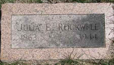 ROCKWELL, JULIA E. - Dakota County, Nebraska | JULIA E. ROCKWELL - Nebraska Gravestone Photos