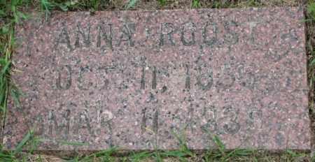 ROOST, ANNA - Dakota County, Nebraska | ANNA ROOST - Nebraska Gravestone Photos