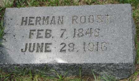 ROOST, HERMAN - Dakota County, Nebraska | HERMAN ROOST - Nebraska Gravestone Photos