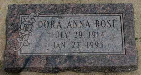 ROSE, DORA ANNA - Dakota County, Nebraska   DORA ANNA ROSE - Nebraska Gravestone Photos