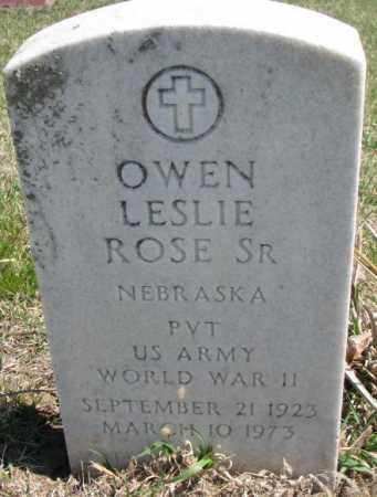ROSE, OWEN LESLIE SR. - Dakota County, Nebraska | OWEN LESLIE SR. ROSE - Nebraska Gravestone Photos
