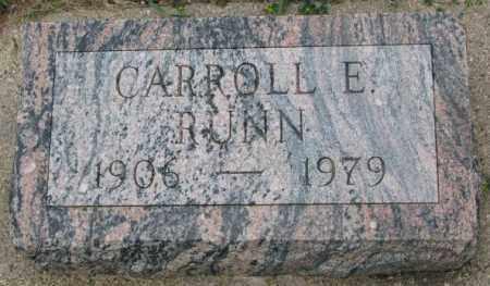 RUNN, CARROLL E. - Dakota County, Nebraska   CARROLL E. RUNN - Nebraska Gravestone Photos