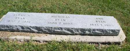 RYAN, SARAH A. - Dakota County, Nebraska | SARAH A. RYAN - Nebraska Gravestone Photos