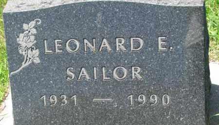 SAILOR, LEONARD E. - Dakota County, Nebraska | LEONARD E. SAILOR - Nebraska Gravestone Photos