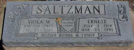 SALTZMAN, ERNEST - Dakota County, Nebraska | ERNEST SALTZMAN - Nebraska Gravestone Photos