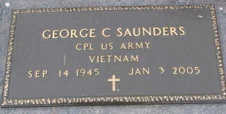SAUNDERS, GEORGE C. - Dakota County, Nebraska | GEORGE C. SAUNDERS - Nebraska Gravestone Photos