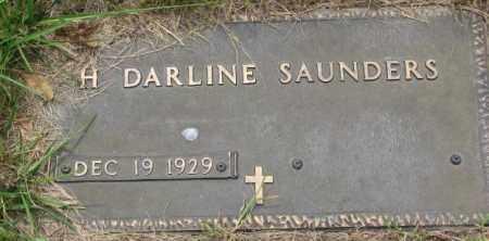 SAUNDERS, H. DARLINE - Dakota County, Nebraska | H. DARLINE SAUNDERS - Nebraska Gravestone Photos