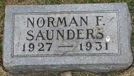 SAUNDERS, NORMAN F. - Dakota County, Nebraska | NORMAN F. SAUNDERS - Nebraska Gravestone Photos