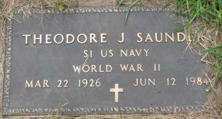 SAUNDERS, THEODORE J. - Dakota County, Nebraska   THEODORE J. SAUNDERS - Nebraska Gravestone Photos