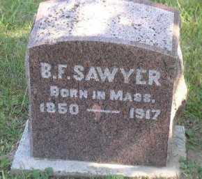 SAWYER, B. F. - Dakota County, Nebraska   B. F. SAWYER - Nebraska Gravestone Photos