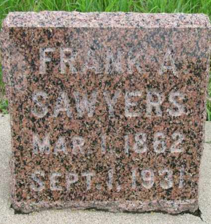 SAWYERS, FRANK A. - Dakota County, Nebraska | FRANK A. SAWYERS - Nebraska Gravestone Photos