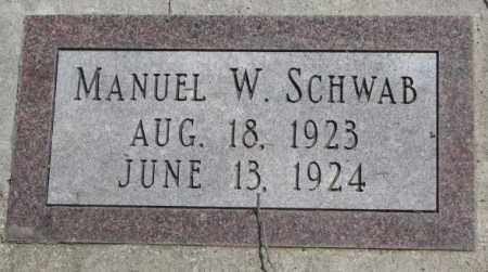 SCHWAB, MANUEL W. - Dakota County, Nebraska   MANUEL W. SCHWAB - Nebraska Gravestone Photos