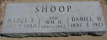 SHOOP, DANIEL H. - Dakota County, Nebraska | DANIEL H. SHOOP - Nebraska Gravestone Photos